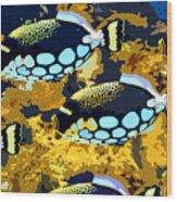 Pop Fish Wood Print