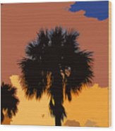 Pop Palms Wood Print