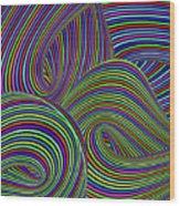 Pop Swirls Wood Print