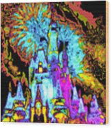 Popart Castle Wood Print