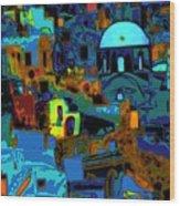 Popart Santorini Wood Print