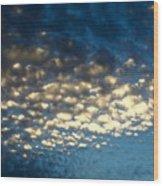 Popcorn Clouds Wood Print