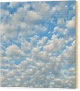 Popcorn Clouds Wood Print