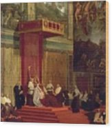 Pope Pius Vii Luigi Barnaba Chiaramonti Attending Chapel 1820 Wood Print
