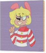 Popee The Performer Wood Print