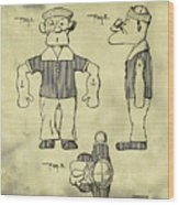 Popeye Doll Patent 1932 In Weathered Wood Print