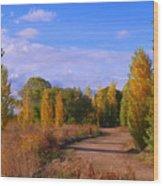 Poplar Lane Wood Print