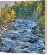 Poplar River  Wood Print