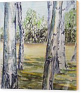Poplar Tree   Wood Print