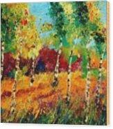 Poplars '459070 Wood Print