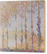 Poplars On The Banks Of The Epte Wood Print