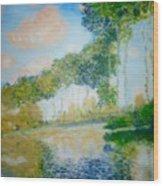 Poplars On The Epte Claude Monet Wood Print
