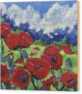 Poppies 003 Wood Print
