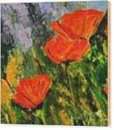 Poppies 107 Wood Print