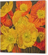 Iceland Poppies 2 Wood Print