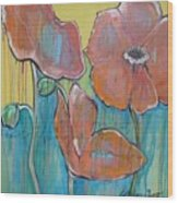 Poppies 3 Wood Print