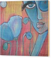 Poppies 7 Luna Let Me Go Wood Print