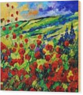 Poppies 78 Wood Print