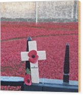 Poppies At Tower Of London Wood Print