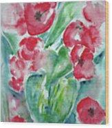 Poppies Celebration Wood Print