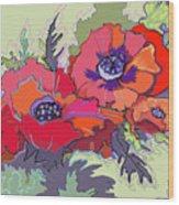 Poppies IIi Wood Print