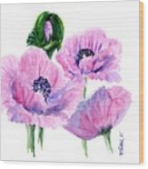 Oriental Poppies Wood Print