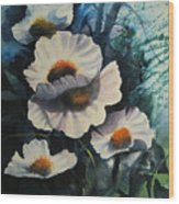 Poppies Wood Print by Robert Carver
