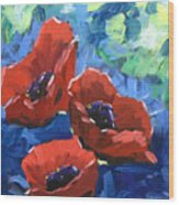 Poppies Splender Wood Print
