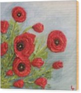 Poppin Poppies Wood Print