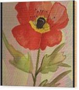 Poppy Art 17-01 Wood Print
