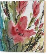 Poppy Blush Wood Print