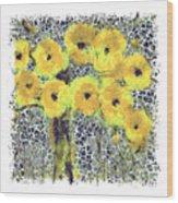 Poppy Bouquet I Pf Wood Print