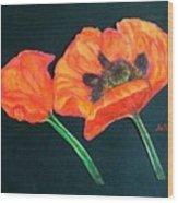 Poppy Bud And Bloom Wood Print