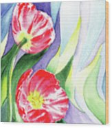 Poppy Couple Gentle Wind Wood Print