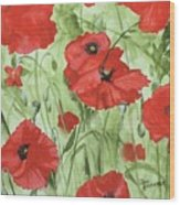 Poppy Field 1 Wood Print