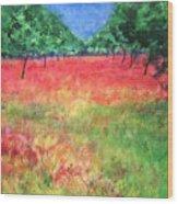 Poppy Field II Wood Print