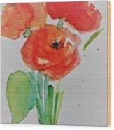 Poppy Flowers 1 Wood Print