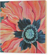 Poppy For A New Day Wood Print