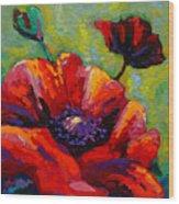 Poppy I Wood Print