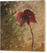 Poppy In The Dawn Wood Print