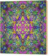 Poppy Opal Yantra Wood Print
