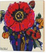 Poppy Passion Wood Print