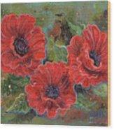Poppy Splendor Wood Print