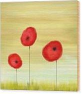 Poppy Sunset Wood Print