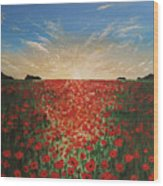 Poppy Sunset Wood Print