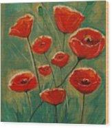 Poppy Surprise Wood Print