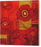 Poppy Treasures II Wood Print