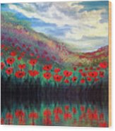 Poppy Wonderland Wood Print