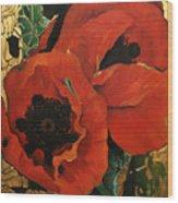 Poppygold Wood Print