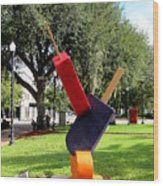 Popsicles In The Park 000 Wood Print